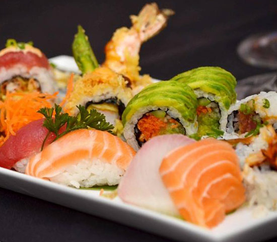 selection of sushi from Nishi