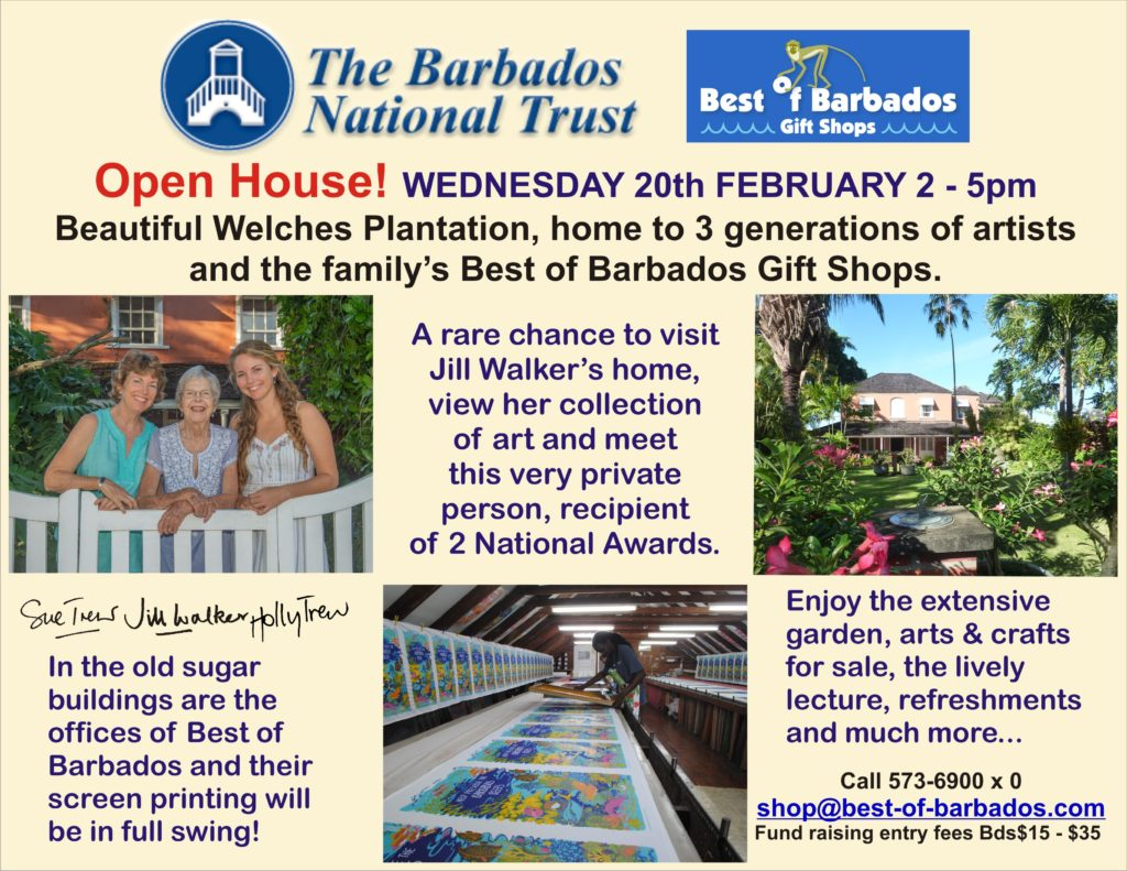 Barbados National Trust Jill Walker Open day