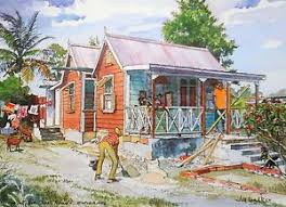 Jill Walker chattel house painting