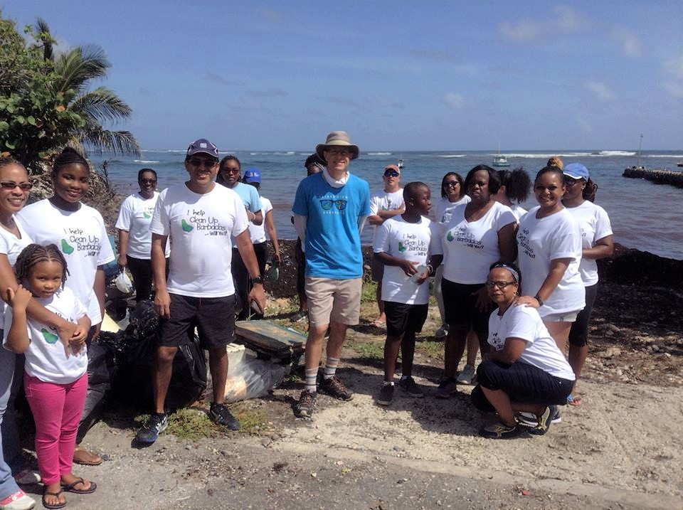 Environmentally friendly Barbados holiday litter pick up