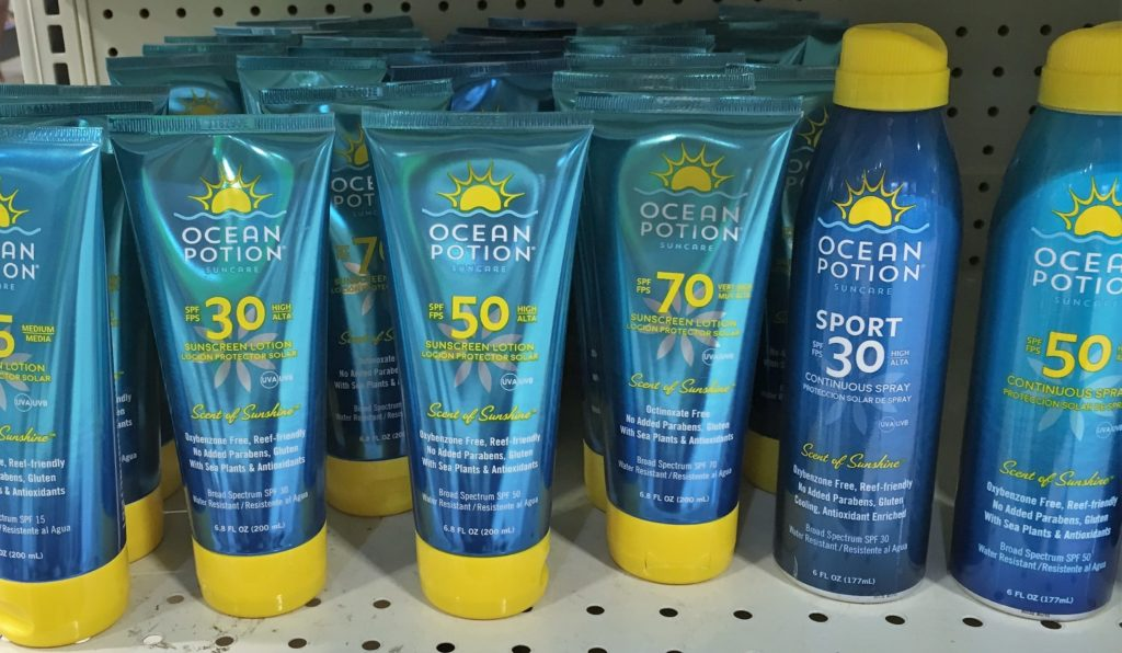 Reef freindly sunscreen